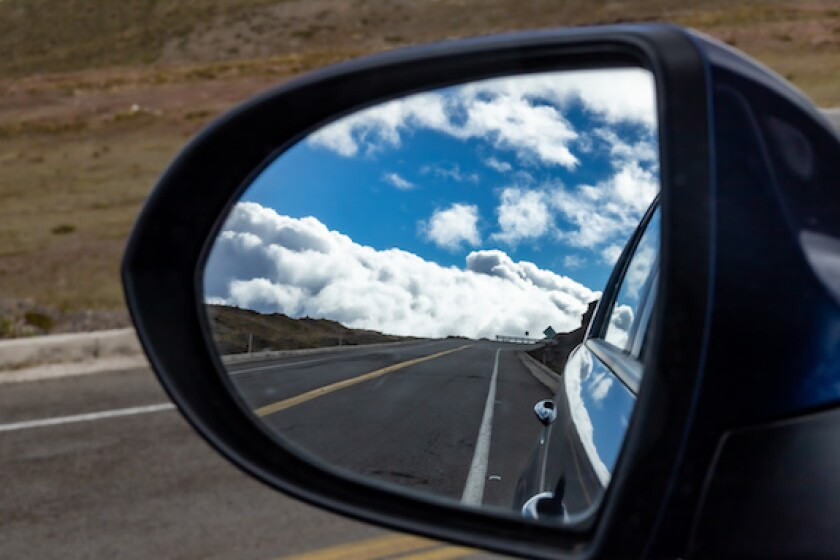 Ecuador, road, car, wing mirror, LatAm 575
