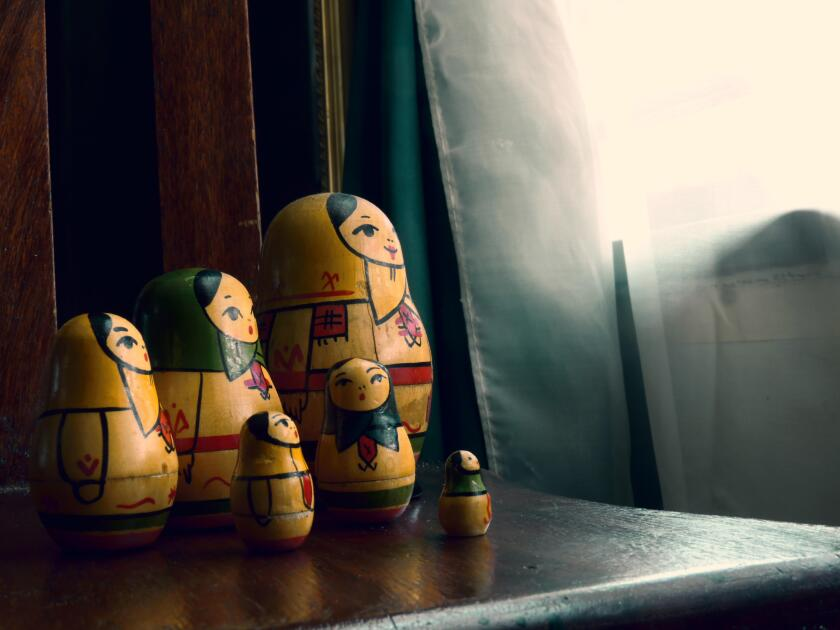 Russian Dolls on side table