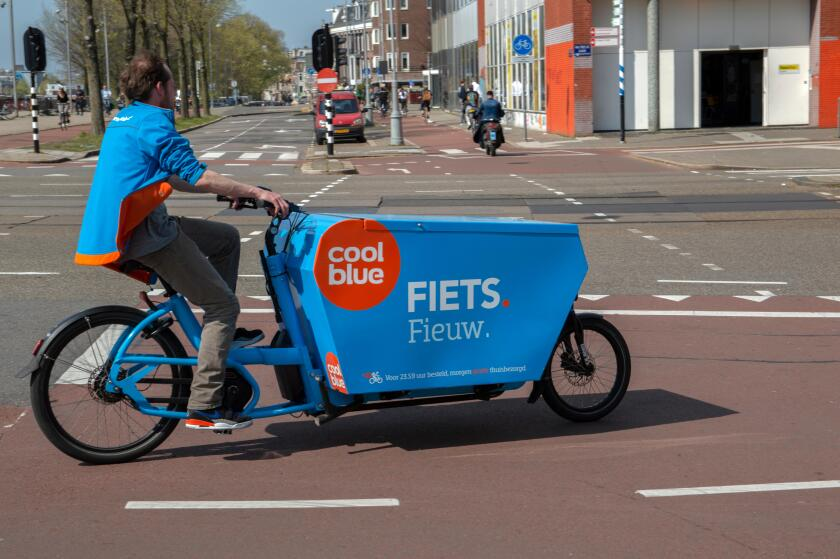 Coolblue Electrical Company Bicycle At Amsterdam The Netherlands 2019