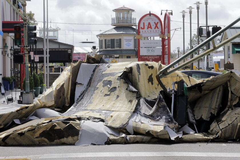New Orleans, United States. 30th Aug, 2021. Jax Brewery in the French Quarter of New Orleans roof blew off during the night as Hurricane Ida hit the city, Monday, August 30, 2021. nnPhoto by AJ Sisco/UPI Credit: UPI/Alamy Live News