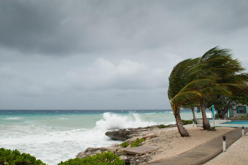 Hurricane storm surge in the Caribbean