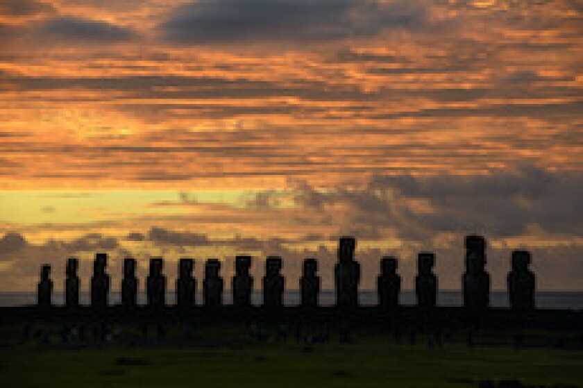 Chile, Easter Island, Moai, statues, latAm
