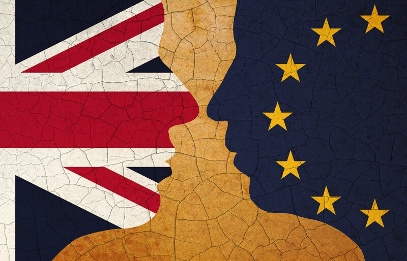 united kingdom and european union, face to face concept