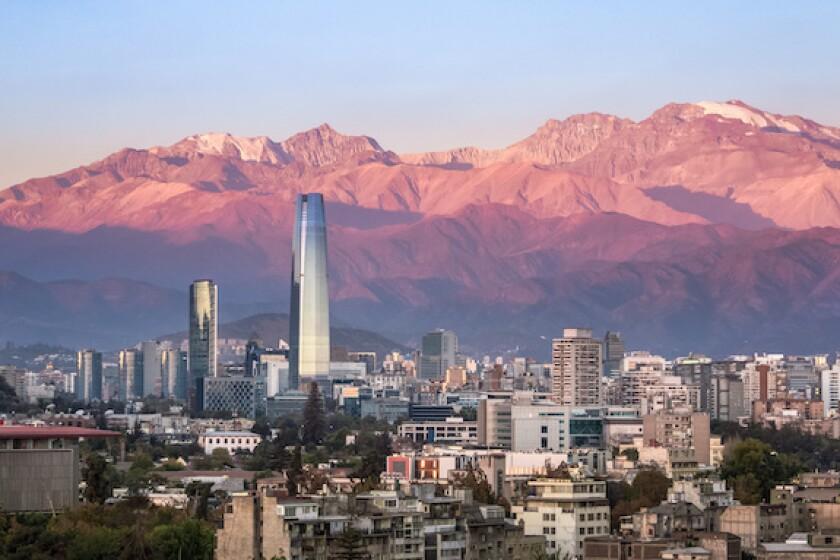 Santiago de Chile, Chile, skyline, Andes, skyscraper, LatAm, 575