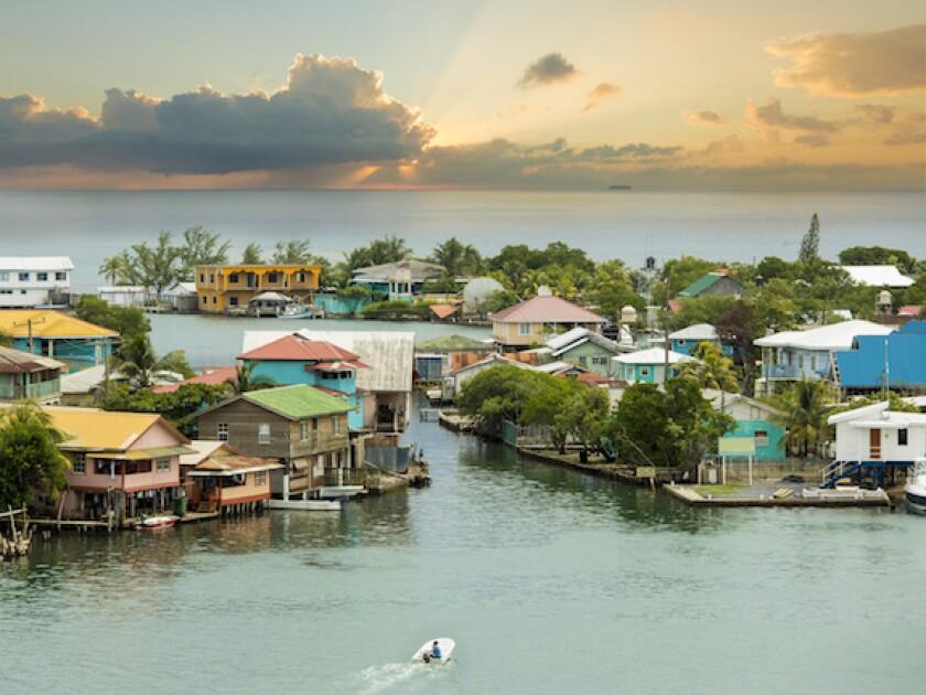 Honduras, Central America, Caribbean, beach, sea, Roatan, island, LatAm, 575
