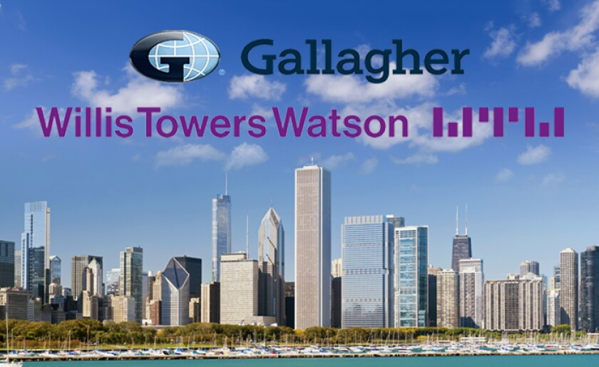 Gallagher and Willis Towers Watson logos Chicago skyline.jpg