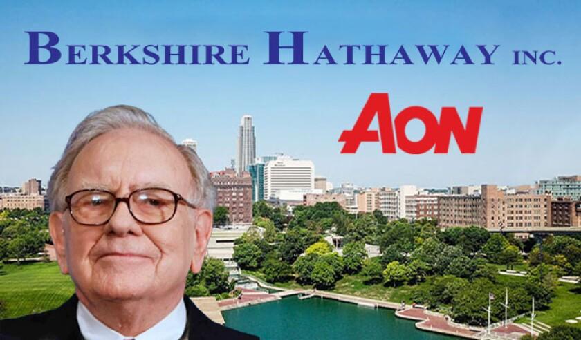 Berkshire Hathaway Aon logos with Buffett omaha.jpg
