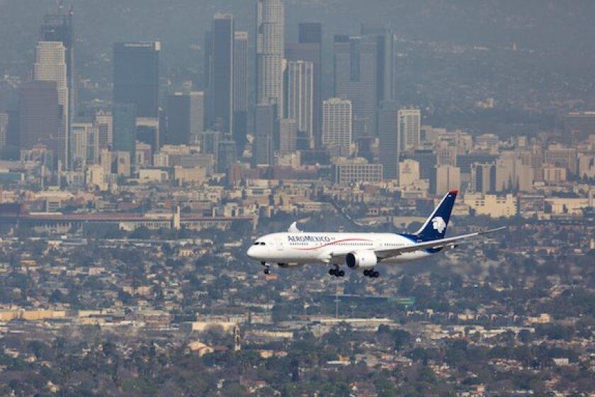 Aeromexico, aircraft, airline, Los Angeles, Mexico, LatAm