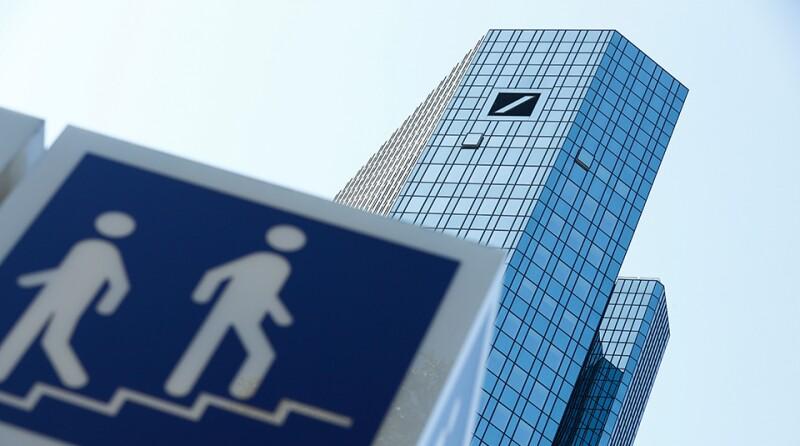 Germany's Deutsche Bank headquarters are pictured in Frankfurt