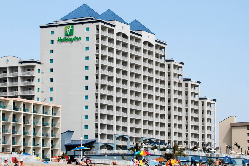 Holiday Inn on Boardwalk and 17th Street  in Ocean City, Maryland