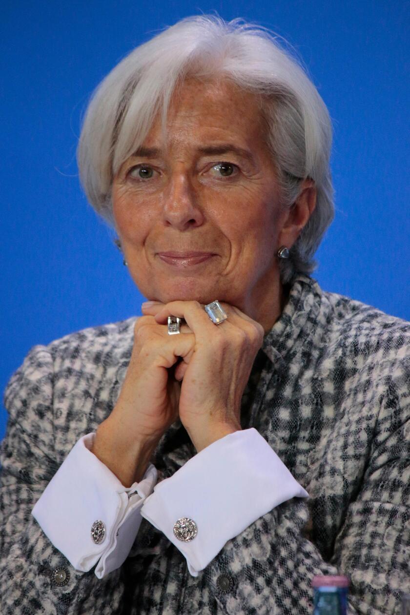 Christine Lagarde - Treffen der Bundeskanzlerin mit den Vorsitzenden internationaler Wirtschafts- und Finanzorganisationen, Bund
