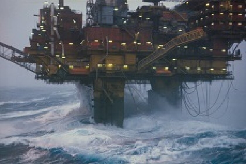 Oil rig in storm climate from Alamy 230x150