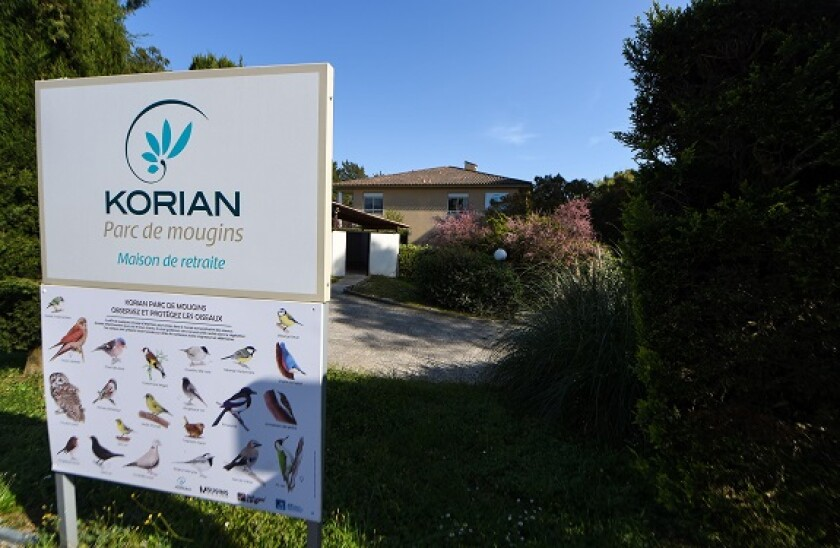 Nursing home of the Korian Parc De Mougins private group in Mougins, Alpes-Maritimes, Cannes on April 6, 2020. (Photo by Lionel Urman/Sipa USA)