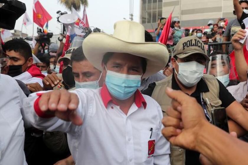 Pedro Castillo, Peru, Peru Libre, campaign, LatAm, Lima, elections, 575