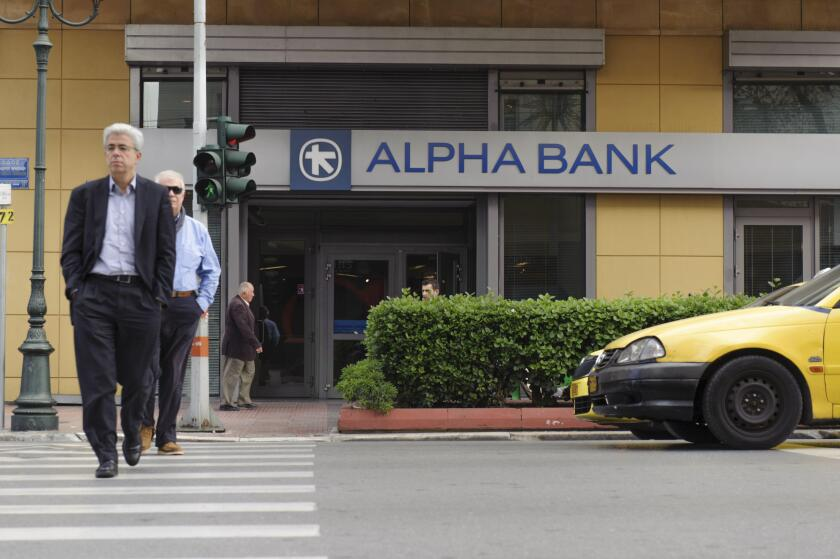ALPHA BANK branch in the Panepistimiou street
