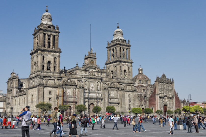 Mexico, Mexico City, cathedral, people, zocalo, LaTAm, 575