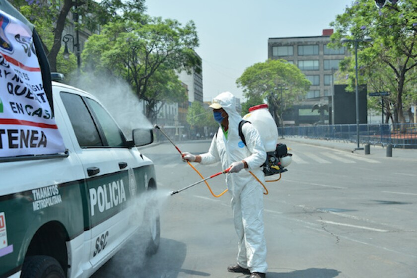 Mexico, Mexico City, LatAm, sovereign, coronavirus, disinfect, 575