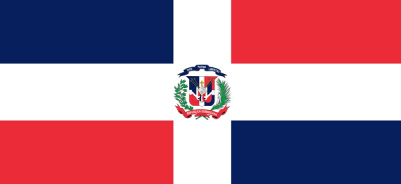 Dominican Republish flag 600x220