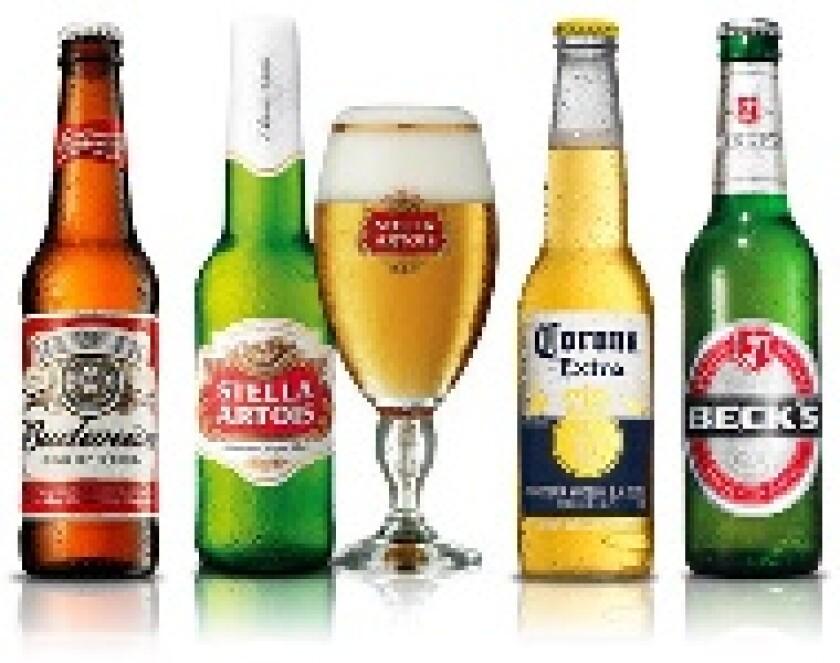 Anheuser-Busch InBev beer brands for new website