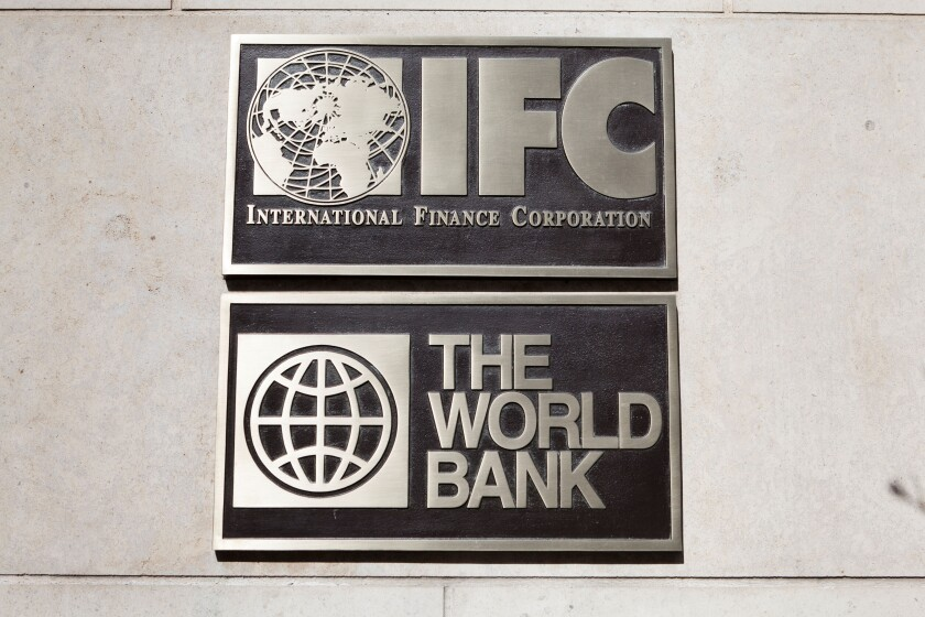 The World Bank, IFC building plaque - Washington, DC USA