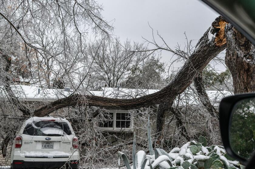 Austin, Texas, U.S.A. 17th Feb, 2021. Austin, Texas. This is Day 3 with the power outage caused by the severe Winter Storm in Austin. Most of Texas is affected. People are at a point where they are running out of food, millions are still out of power, and