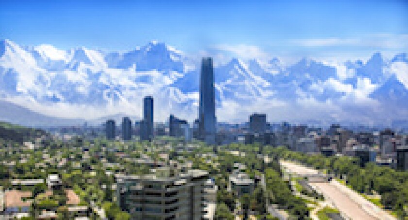 Santiago, Chile, Andes, Snow, mountains, LatAm