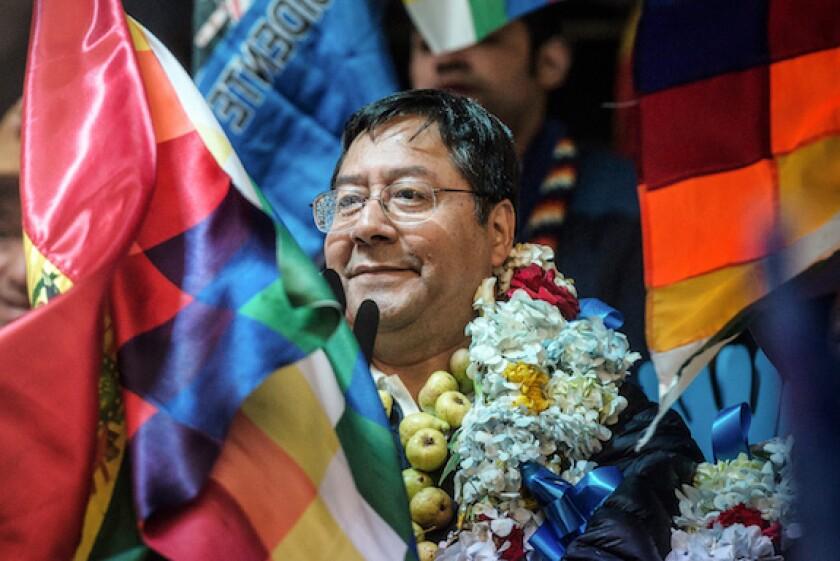 Luis Arce, Bolivia, MAS, president, left wing, LatAm, 575, election