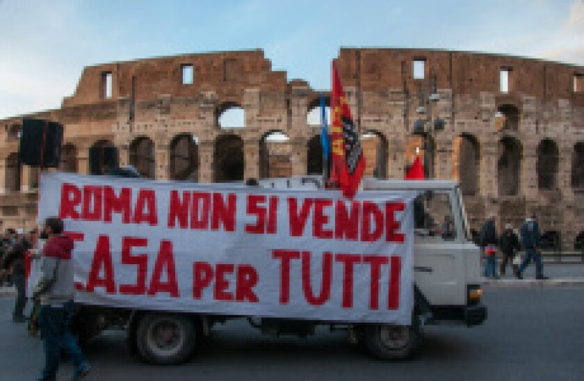 Italy housing protest