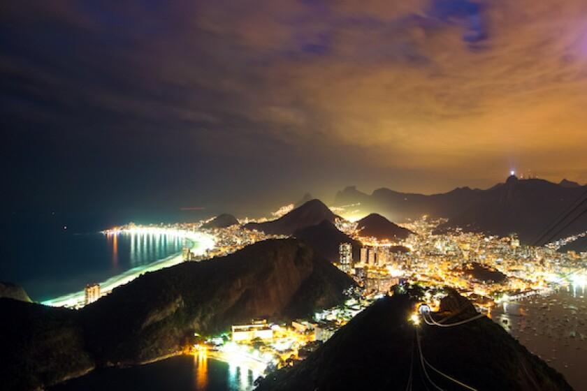 Rio de Janeiro, Brazil, night, electricity, Light, utility, LatAm, 575