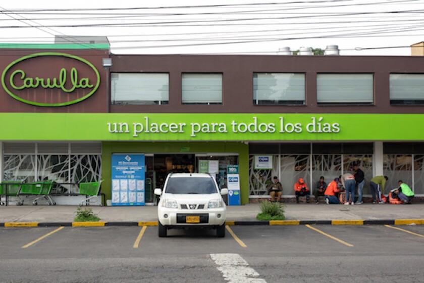 Colombia, Bogota, Carulla, supermarket, shopping, coronavirus, LatAm, 575