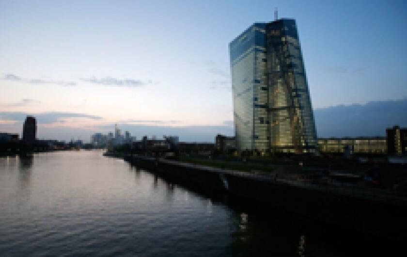ECB new building 2014 dawn