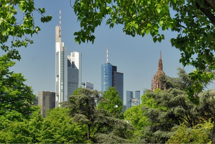 Frankfurt skyline banks green from Adobe 20Apr20 575x375
