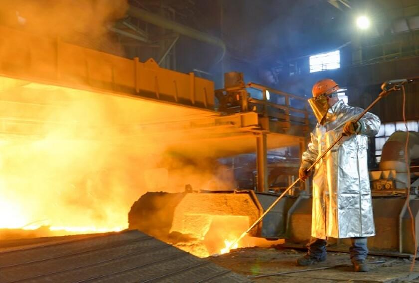 Steel making from Alamy 15Jul21 575x375