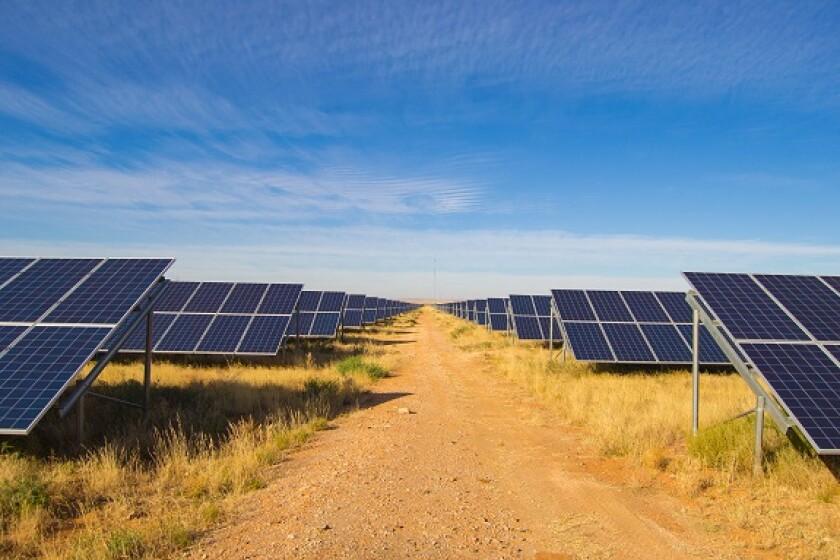 Solar power farm renewable energy from Adobe 23Jun20 575x375
