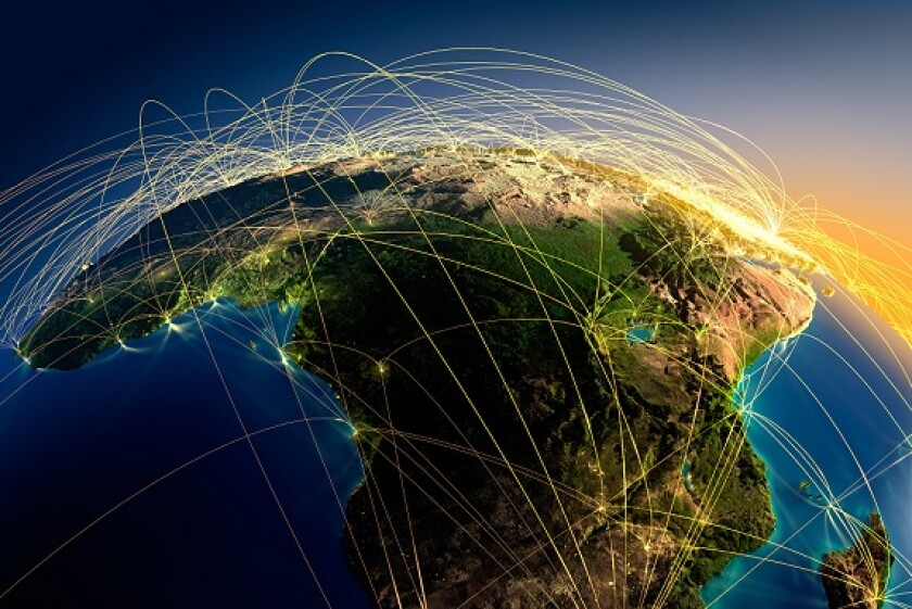 Africa flights trajectory from Alamy 12Jul21 575x375