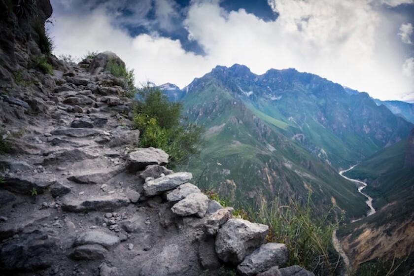 LatAm, Peru, Colca Canyon, Precipice, abyss, fall, slump, scary, 575