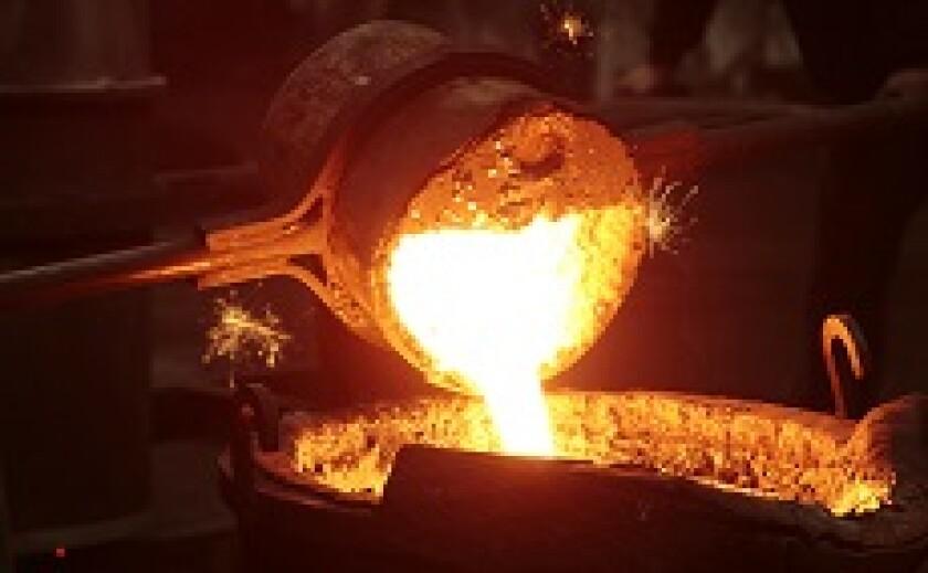 Molten steel in mill from Fotolia 230x150