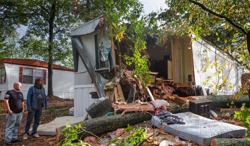 Hurricane Zeta damage