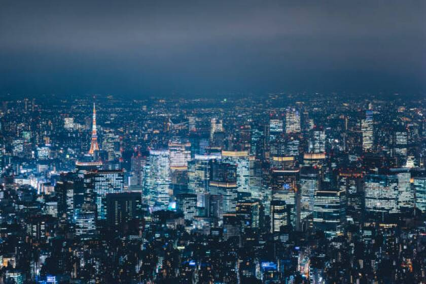 aerial-view-of-tokyo-at-night-picture-id1205414969