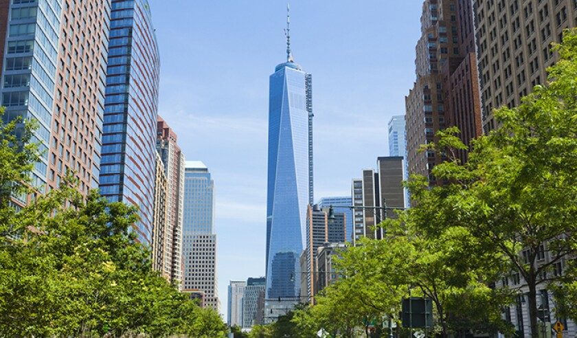 West Street and World Trade Center, New York