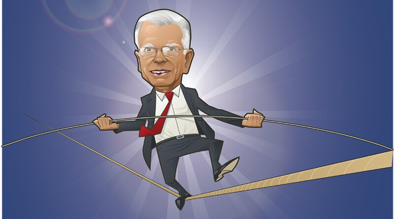 Arif Usmani walking tightrope