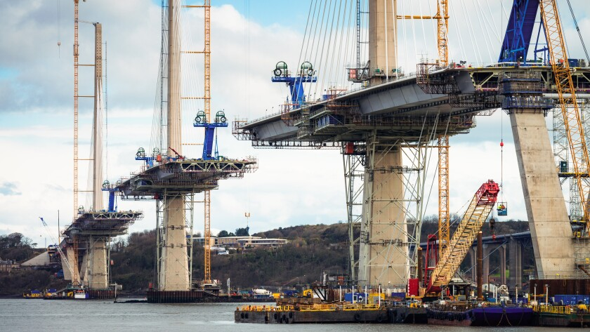 Construction of the Queensferry Crossing over the Firth of Forth