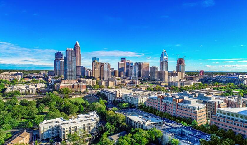 Downtown Charlotte, North Carolina, USA Skyline