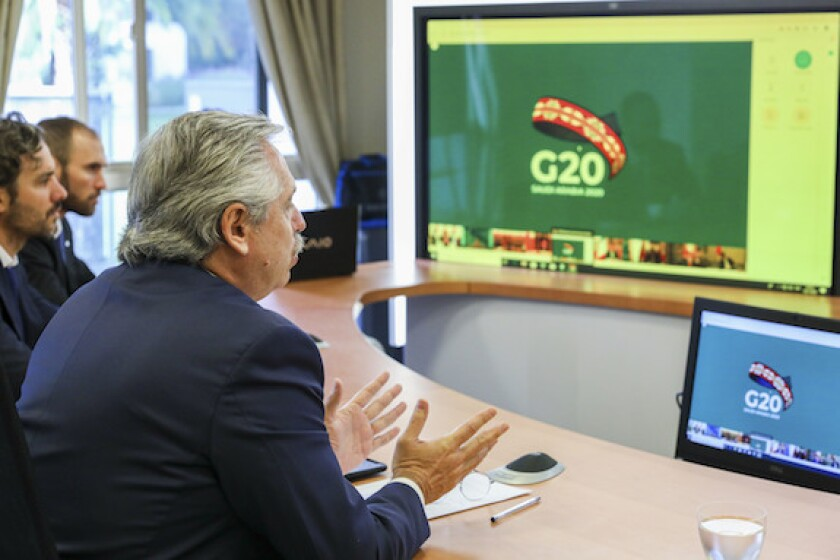 argentina, 575, alberto fernandez, G20, president, restructuring