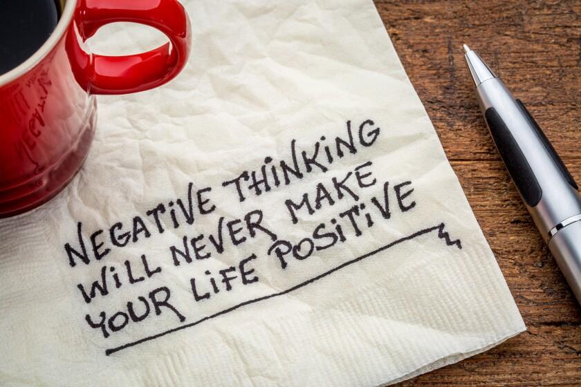 negative thinking and posifitive life