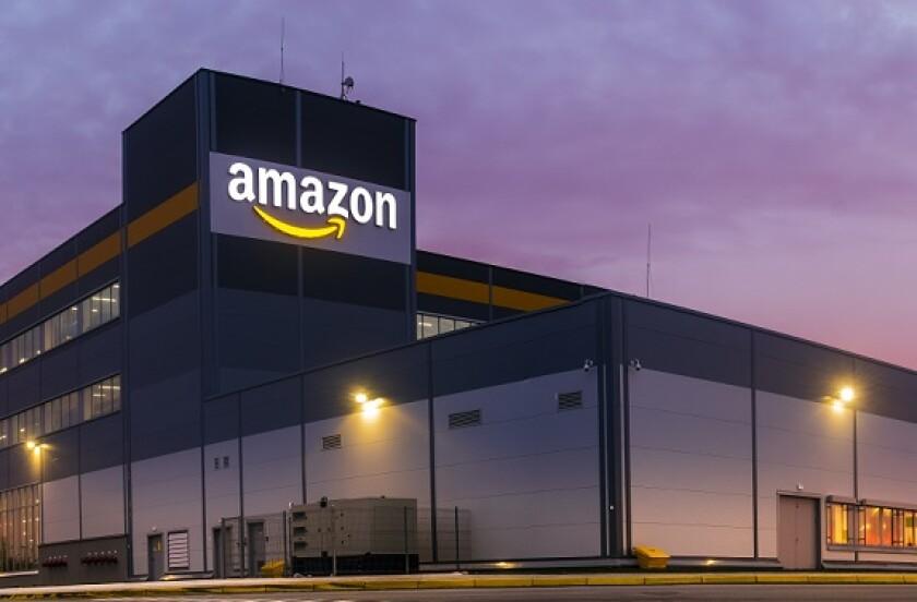 Amazon warehouse Poland at dawn from Adobe 16Jun20 575x375