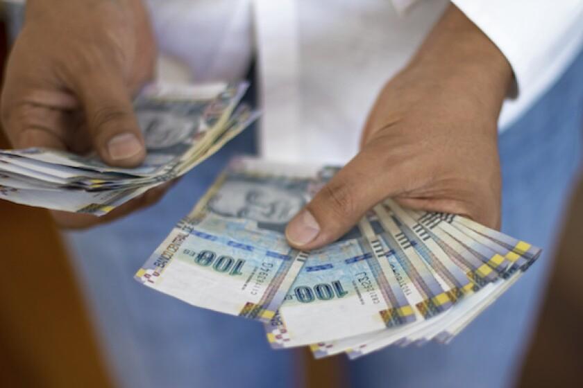 Peru, nuevo sol, currency, LatAm, money, notes, 575