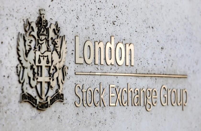 Logo of the London Stock Exchange Group, London Stock Exchange, Financial District, London, United Kingdom
