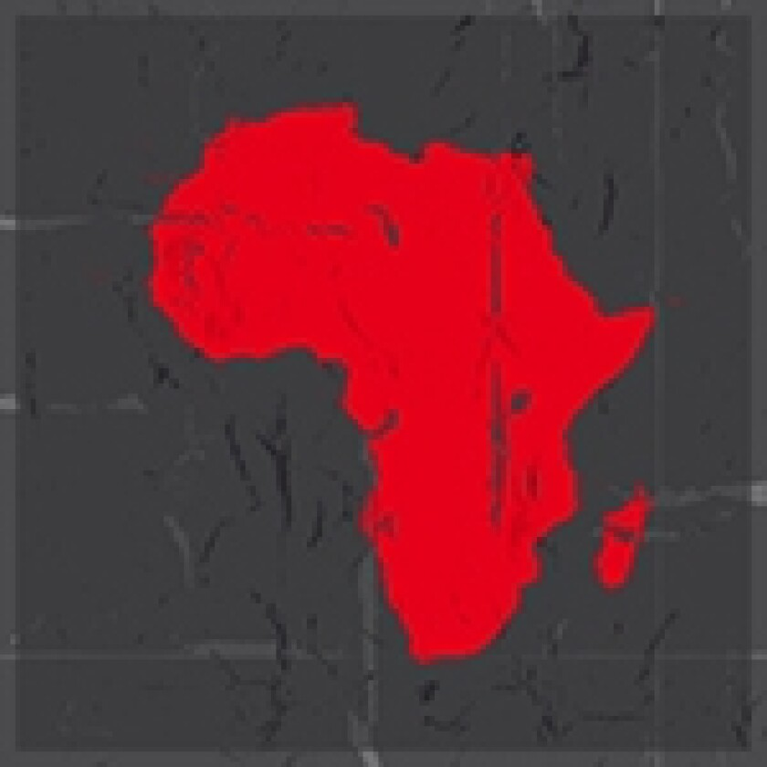 africa map red