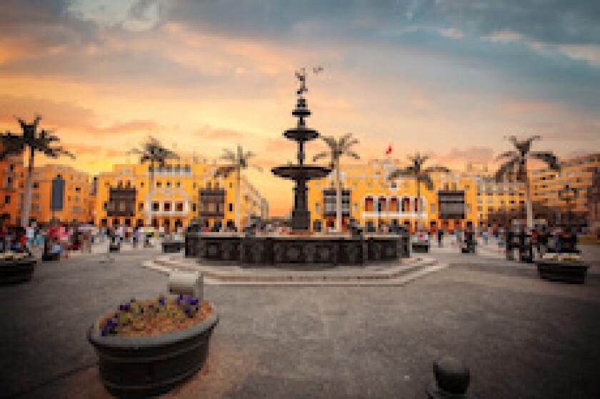 Lima, Peru, Plaza de Armas, LatAm